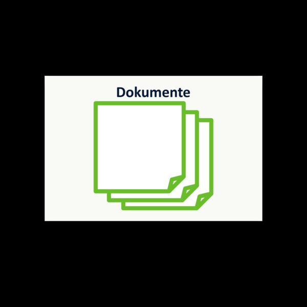 Symbol Dokumente als Haftnotizblock zur Prozessanalyse