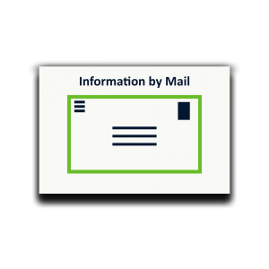 Icon Information by mail as sticky notes for process analysis