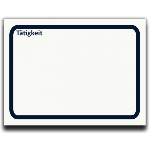 Symbol Tätigkeit als Haftnotizblock zur Prozessanalyse